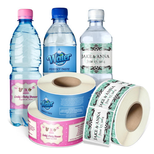 Printed Roll Water Bottle Label Packaging Type Rolls Glossy Id