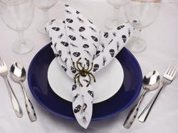100% Cotton Printed Dining Table Cloth Napkins Set of 6