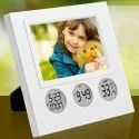 A-101 Bubble Clock With Photo Frame Table Clock