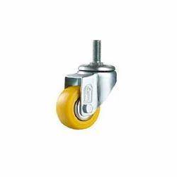 Yellow Medium Duty Thread Type Caster Wheels, Size: 1.6 To 5