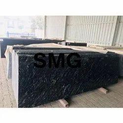 Polished slabs SARAWAGI Blue Granite Slab, For Flooring, Thickness: 16 mm