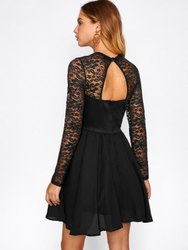 Black Net Lace Fabric