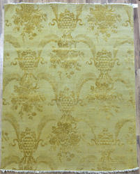 Beautiful Light Gold Wool Silk Rugs