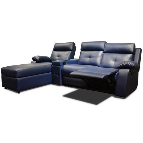 Leather 3 Seater Recliner Sofa Set Rs