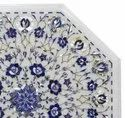 Marble Inlay Side End Table Top