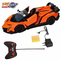 Planet of Toys Remote Control 1:14 5-Function Sports Racer Car - Orange