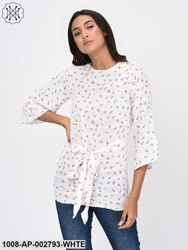 Floral Front Tie Top for Women