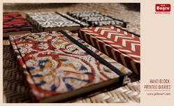 block printed hand made diaries