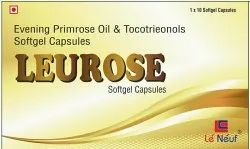 Leurose Softgel Capsule ( Evening Primrose Oil 1000 Mg Tocotrienols 30 Mg)