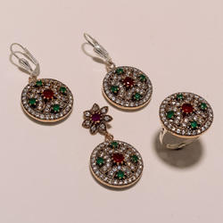 High Quality Turkish Ring Pendant Set