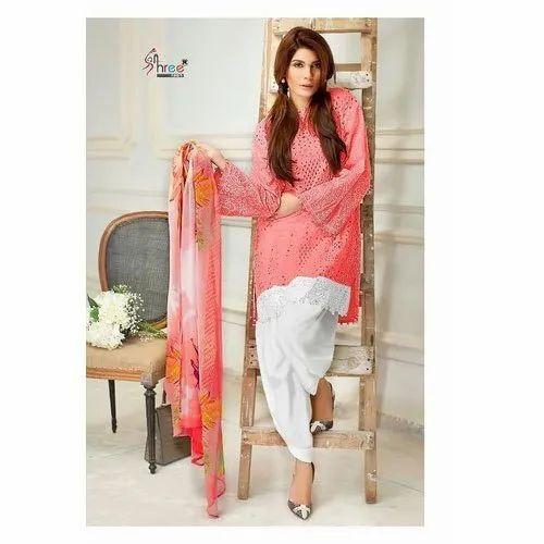 Cotton Hand Wash Ladies Designer Salwar Suit