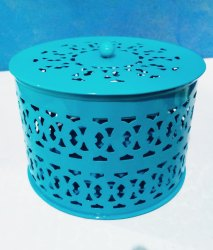Steel Round Aching box Metal, For Cosmetic, Dimension: 6x6