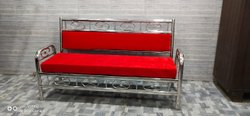 Polished Stainless Steel Sofa, Size: 3 Seater