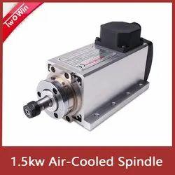 Spindle 1.5KW Air Cooled 220V/380V ER20 Collet Runout-off 0.01mm with 4pcs Bearing Flange Mounting