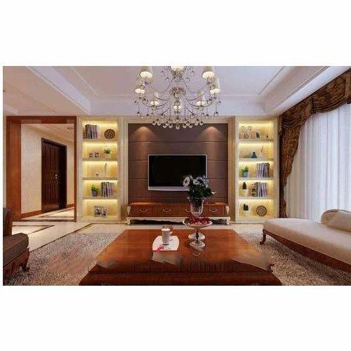 Wooden Drawing Room Interior Service Vishnu Traders Id