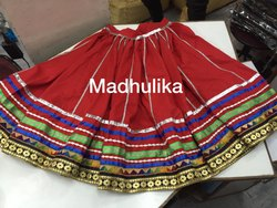 Red Kalbeliya Dance Traditional Gherdaar Lehenga Chunni Kurti