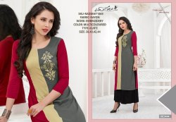 Rachna Rayon Delicated Embroidery Work Radiant Catalog Kurti For Women 3