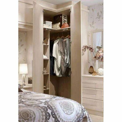 Wooden Corner Wardrobe