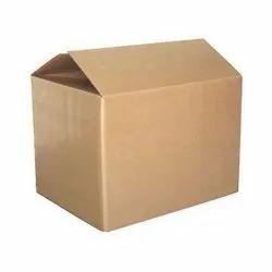 Kraft Paper Rectangular Brown Corrugated Packaging Boxes, Ply: 5