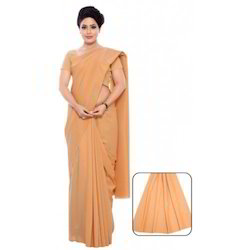 Saree Plain Work Wear Women Nursing Maid
