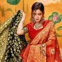 Latest Banarasi Weaving Silk Designer Saree With Blouse