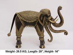 Brass 3 Trunk Elephant Statue