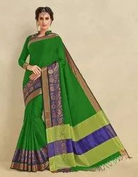 Designer Heavy Cotton Silk Saree
