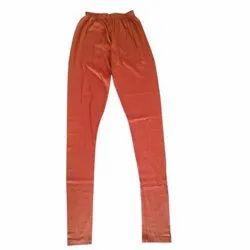 Plain Straight Fit Orange Ladies Legging