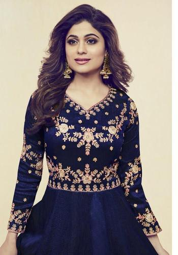 a0535c07944 Silk Embroidered Anarkali Suit, Rs 1525 /piece, Varniraj Creation ...