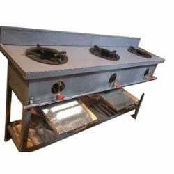 Mild Steel Three Burner Gas Bhatti