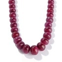Ruby Smooth Rondelle Beads