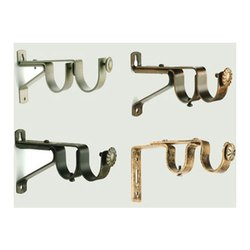 Brass Double Rod Bracket, For Curtain