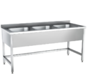 Stainless Steel Three Sink Unit