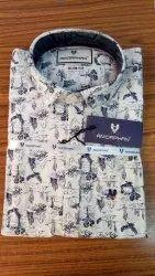 Men Cotton Collar Neck Shirt