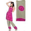 Stylish Pink Bandhani Suit