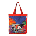 Funky Taxi Canvas Tote Bag