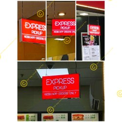 Light Box for Airport Express Delivery Adverting, Size: 12 x 18 inch