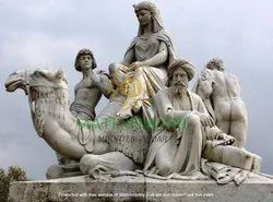 Marble Human And Animal Statues