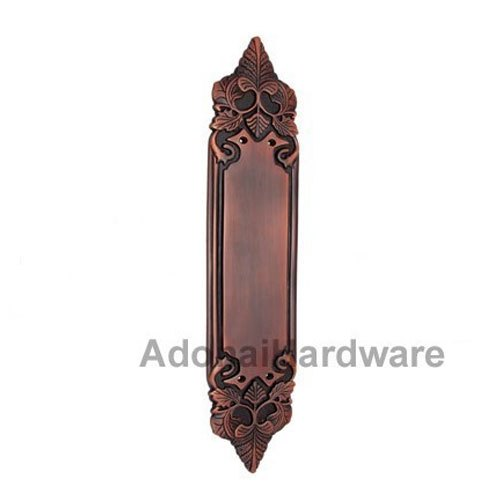 Adonai Hardware Ohel Decorative Brass Push Plate AH-OHE-PSP-008-BR