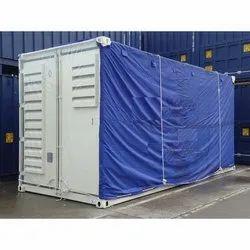 Blue Plain Container Tarpaulin Cover