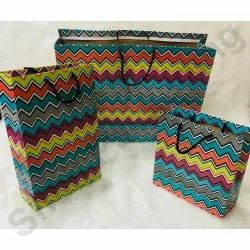 Rope Handle Printed Colored Paper Box Bag for Shopping, Capacity: 500 G-1 Kg