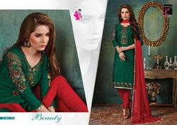 Embroidered Cotton Ladies Suit