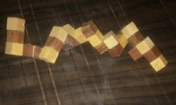 Wooden Puzzle Snake Cube