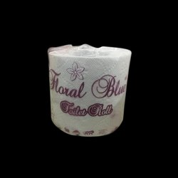 Plain White Toilet Tissue Paper Roll