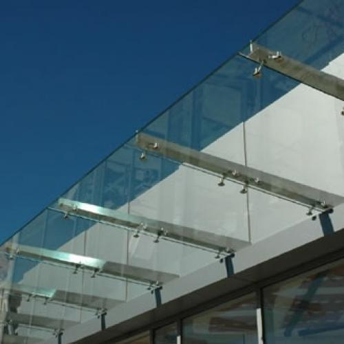 Flat Glass Roof At Rs 4500 Square Meter Fiberglass Roofing Sheet