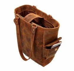 Distress Leather Women Tote Bag