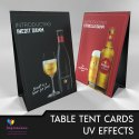 Menu Tent Card Printing Services