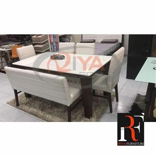 Riya Sofa Wooden Dining Table Set, Sofa Dining Room Table