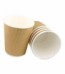 40-300 ml Brown Tipple Wall Ripple Cups, Packet Size: 1000, Size: 40 Ml To 300 Ml