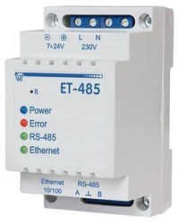 Protocol Converter RS485 Modbus/ASCII to Ethernet, RS485 MODBUS/ASCII to Ethernet conversion